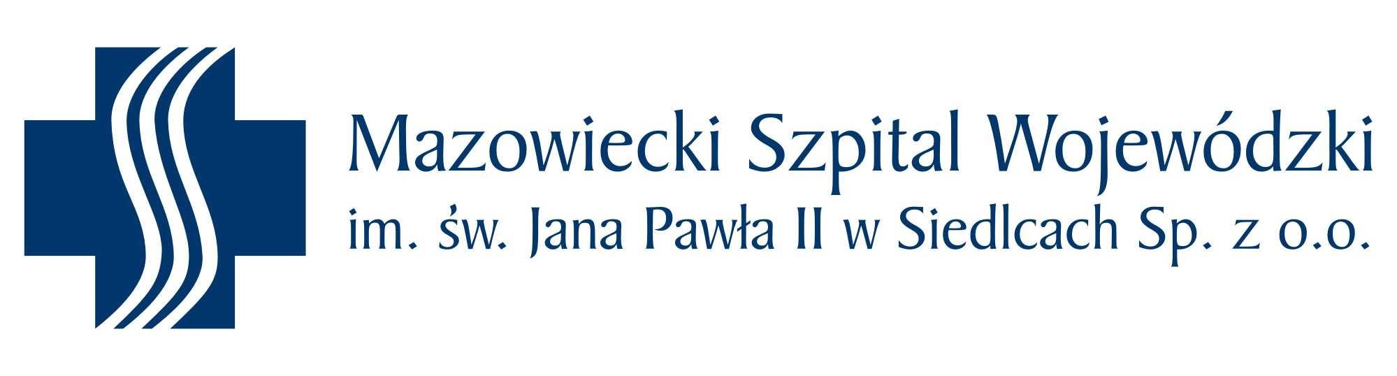 Logo Mazowiecki Szpital Wojewódzki im. św. Jana Pawła II w Siedlcach